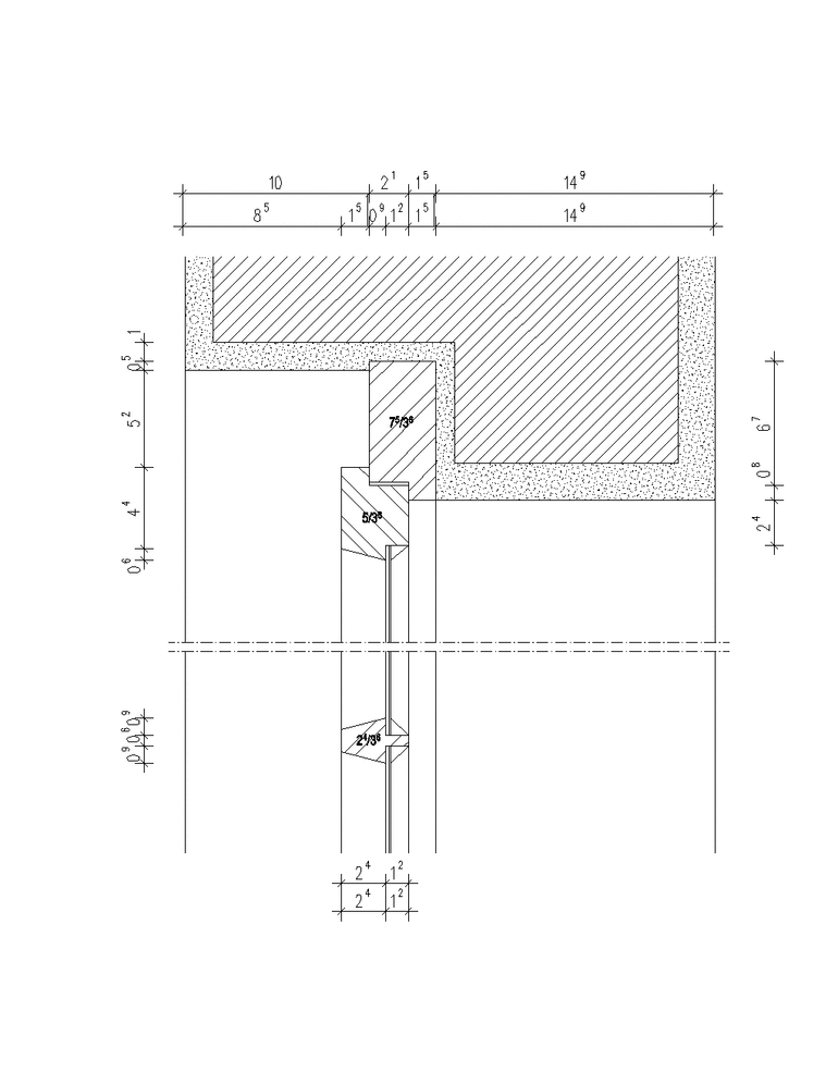 Tür detail grundriss  Paster-Behrens-Straße 17